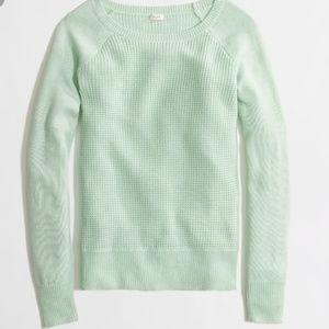 J. Crew Merino Blend Waffle Knit Alpaca Sweater L
